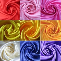 #616  Free Shipping  100% Polyester pure Satin  fabric  Many Colors In Stock For Retail & Wholesale