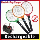 Free Shipping 1pcs Rechargeable LED Electric Insect Bug Fly Mosquito Zapper Swatter Killer Racket 3-layer Net Safe(China (Mainland))