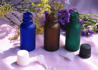 20ml scrub  glass bottles essential oil Frosted bottle 2013 most popular shoulders flat bottle plastic dropper