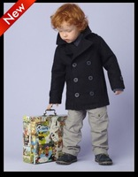 free shipping new 2013 Wholesale 98~122 3pcs/lot winter boys baby kids the jacket coat for boys wool coats  children outerwear
