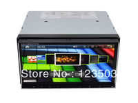 "two Din 6.95"" inch Universal Car DVD Wifi Surf Internet, GPS,BT, IPOD audio Analog TV Map Card"