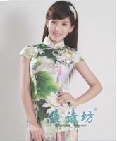 2013 green fresh elegant fashion tang suit cheongsam top