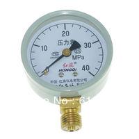 Water Oil Hydraulic Air Pressure Gauge Universal Gauge M14*1.5 60mm Dia 0-40Mpa