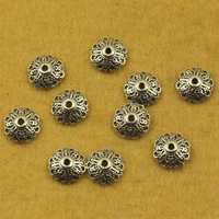 Thai silver accessories diy vintage 925 pure silver jewelry 10mm thalami flower hat beads bracelets SMA58