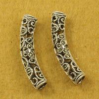 Vintage thai silver accessories diy 925 pure silver mark race cutout plumbing trap bracelets SMA56