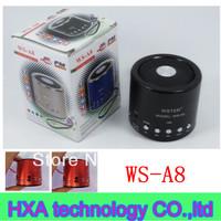 FM radio mini digital music box speaker portable wonderful music speaker WS-A8 speaker,  Portable wster speaker