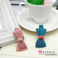 Bow hairpin side-knotted clip duckbill clip small clip