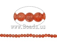 Free shipping!!!Crackle Glass Beads,Love Jewelry, Round, reddish orange, 6mm, Hole:Approx 1.5mm, Length:31 Inch, 140PCs/Strand