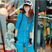 Vogue of new fund of spring tether behind sweet candy color suits ladies leisure fleece
