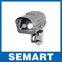 2014 brazil Solar Powered CCTV Security Fake Dummy Camera with Flash Lights Lighting At Night + Temperature Sensor