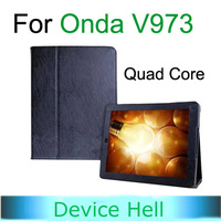 New arrival! Original Leather Stand Case Cover Jacket for Onda V973 Quad Core Tablet, RD Luxury Black, Free Shipping!