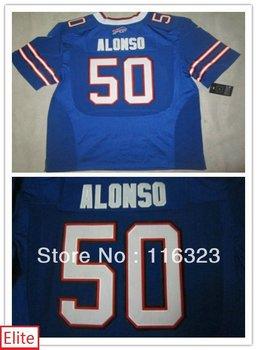 Wholesale-Men's Football Jerseys Kiko Alonso  #50 Elite Blue,White, Sports Jersey Size:40~56+Free Shipping,Mix Order
