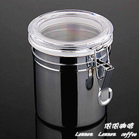 Special offer!! Stainless steel conister sealed cans coffee bean airtight jar tea caddy fresh cans half pounds conister 10x14cm