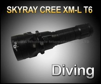 SKYRAY 1800 Lumens 12W 100m Underwater Diving CREE XM-L LED Flashlight Torch Waterproof Light