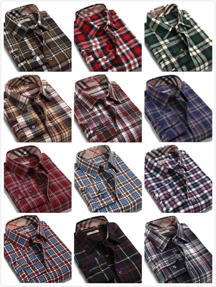 Korean Long Sleeve Shirt Men Men's Long Sleeve Plaid