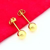 New Fashion 24K Gold Plated Earring Yellow Gold Golden Earring Women Wedding Gift Free Shipping YHDE012