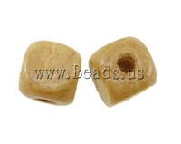Free shipping!!!Wood Beads,Jewelry Blanks, Cube, midium yellow, 10x10mm, Hole:Approx 3.5mm, 1000PCs/Bag, Sold By Bag