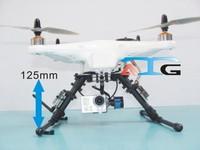 ATG Universal FPV Multifunction Glass Fiber Landing Skid Kit 125mm Tall for DJI Phantom Quadcopter