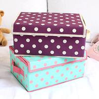 Non-woven sundries storage box with lid storage box 33662