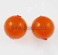 Free shipping!!!Jelly Style Acrylic Beads,christmas, Round, reddish orange, 10mm, Hole:Approx 2mm, 900PCs/Bag, Sold By Bag