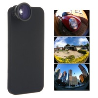 0.5X Detachable 160 Degree Fisheye Fish Eye Lens Camera Kit for iPhone 5 5G Mobile Phone Lenses with Cover Free / Drop Shipping