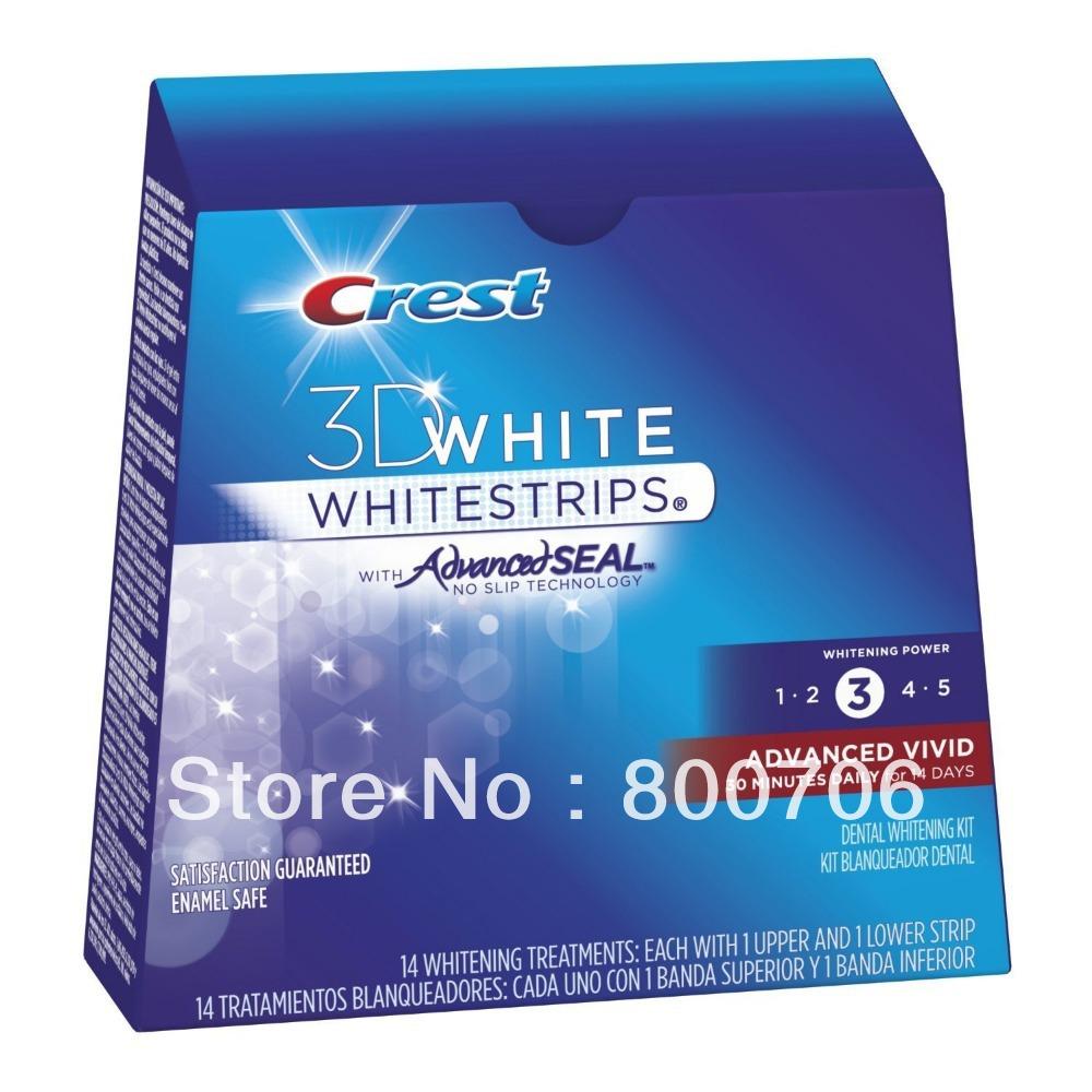 New CREST Whitestrips 3D Advanced Vivid 28 Strips(China (Mainland))