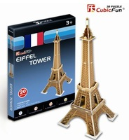 Free shipping, Cubicfun 3D puzzle,mini version of the Eiffel Tower. Children education toys,the best gifts for children,S3006