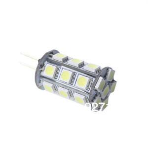 EMS/DHL free shipping 200pcs G4 24 LED 5050 SMD 360 Degree White Car Marine Camper RV Light Lamp Bulb DC 12V(China (Mainland))