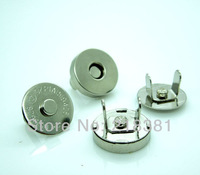 50 Sets Silver Tone Magnetic Snaps Bag Purse Clasp Metal Button Fastener Sewing Craft 14mm  A00426S