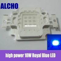Free  10pcs x high power 10W Royal Blue LED 450nm-455nm For Aquarium light & plant