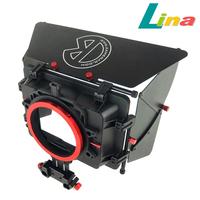 Free DHL Pro Kamerar DSLR Video Matte Box MAX-1 for 15mm Rail Rod Video Camera Follow Focus
