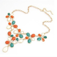 free shipping fashion chunky statement costume necklace jewelry for ladies