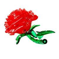 #Cu Crystal Furnish Red Rose Cube Jigsaw Puzzle Cute Souptoys 3D IQ Gadget