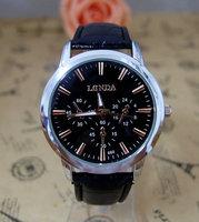 Wholesale Fashion High Quality Leather Strape Men Quartz Wrist Analog Watch  londa-8 Wristwatches