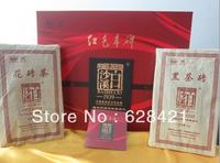 Anhua Hunan Baishaxi Hong Se Feng Bei Dark tea 1kg Black Brick 1kg Flower Brick Compressed Tea Chinese Natural Health Tea BSX002