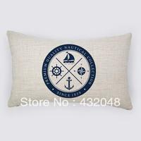 marine style good quality retro style cotton pillow square pillow lumbar pillow cushion sofa cushion with core