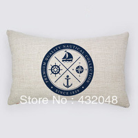 marine style good quality retro style cotton pillow square pillow lumbar pillow cushion sofa cushion with core