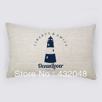 marine style ocean lover retro style cotton pillow square pillow lumbar pillow cushion sofa cushion with core