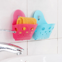 Diy strong suction cup water storage box sponge holder wall bathroom k1570