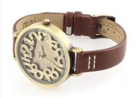 2013 Fashion Fimo Mini Waterproof Watch Quartz Watch Brand Designer Retro Roman Numerals Leather Watches