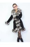 женщин подлинной Фокс меха жилет элегантной Леди осень зима Фокс меха верхняя одежда женщин меха швейной ems tp19931