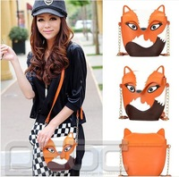 Free shipping# Woman Cute Fox Head Shoulder/Crossbody Bag Mini Personalized Handbag #B