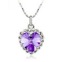Lovely woman's fashion jewelry, fashion elegant sparkling crystal heart pendant necklace – B21