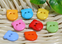 200PCS mixed color BEAR FACE animal shape buttons 15mm*17mm clothing accessories Sewing botton