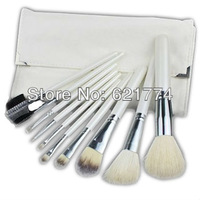 New Hot 10pcs Professional Makeup Brushes Cosmetic Brush Set Kit with Pouch Case Free Shipping