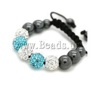 Free shipping!!!Rhinestone Shamballa Bracelets,fantasy women jewelry, rhinestone pave bead