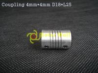 20pcs/lot Coupling 4mm*4mm D18*L25  Motor coupling Motor fitting Free shipping