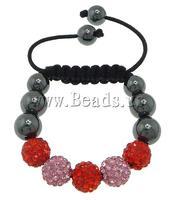 Free shipping!!!Rhinestone Shamballa Bracelets,Trendy Fashion Jewelry, rhinestone pave bead