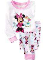 good quality baby girl's fashion minine pajamas set long sleeve top+pant 2pcs suits free shipping 6 sizes