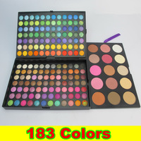 [Retail-10006]Retail 1set/lot Pro 183 Color Eyeshadow Eye Shadow Makeup Make Up Palette Kit + Free Shipping